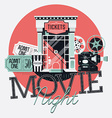 Movie Night Icon Set vector image