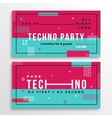 Night Techno Party Club Invitation Card or Flyer vector image