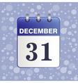 Sheet Desktop calendar in blue color vector image