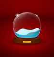 snow dome or crystal ball vector image