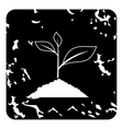 Sprout icon grunge style vector image