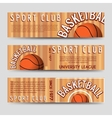 Basketball sport club horizontal banners template vector image
