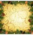 Vintage Christmas vector image vector image