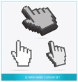 Web arrow hands symbols set isolated vector image vector image