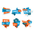 geometrical design forms for banners of shopping vector image