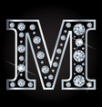 m letter made with diamonds isolated on vector image