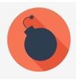Pirate icon bomb Flat design vector image