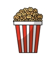 pop corn fast food vector image