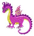 sad dragon vector image