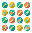 Set flat icons of tools for repair and building vector image