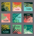 Set of dark colors abstract cards for your design vector image