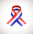 USA Tricolor Ribbon American Patriotic Sig vector image