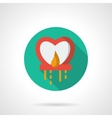 Red sky lantern flat round icon vector image