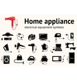 Electrical appliance with plug equipment icon set vector image
