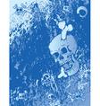 emo background with skulls vector image