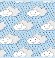 doodle hand drawn seamless pattern with cute vector image
