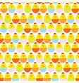 easter egg and chicken seamless pattern background vector image