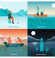 Fishing 2x2 Design Concept vector image