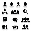 Man woman user icons set vector image