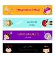 Set of banners with kids in fancy dresses vector image
