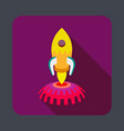 space rocket concept background cartoon style vector image