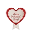 Valentines Day realistic textile Heart Emblem vector image