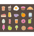 Breakfast Different stickers collection vector image