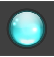 Glossy circle button for your design vector image vector image