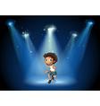 A boy dancing with spotlights vector image vector image