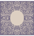pattern swirl frame vector image vector image