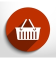 shopping cart web flat icon vector image