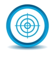 Aiming mark icon blue 3D vector image