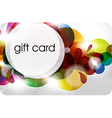 Bubble Gift Card Design vector image