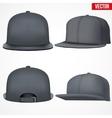 Set Layout of Male black rap cap vector image vector image
