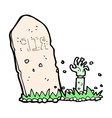 comic cartoon zombie rising from grave vector image