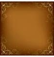 dark beige card with golden decor vector image