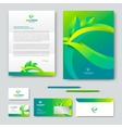 Eco corporate identity vector image