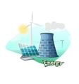 Energy sources concept design vector image