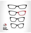 Eye glasses set Optical glass appliance for vector image