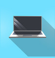 laptop computer icon modern portable gadget vector image