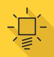 Lightbulb icon long shadow vector image