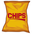 potato chips bag vector image