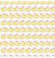 Seamless pattern with gold wedding rings vector image