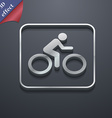 Cyclist icon symbol 3D style Trendy modern design vector image
