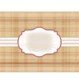 frame on the checkered background vector image vector image