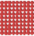 Seamless red background with paper hearts vector image
