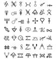 Runes Occult Symbols vector image
