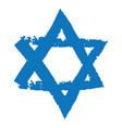 Judaic symbol of magen david or david star vector image