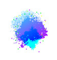 explosive artistic background vector image