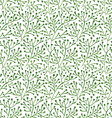 seamless pattern with green branches vector image